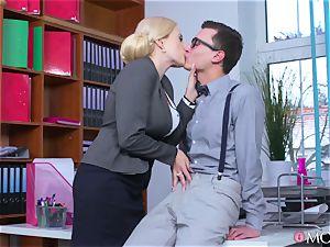 youthfull programmer porks his ultra-kinky mature headmistress Angel Wicky