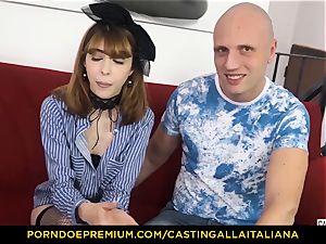 casting ALLA ITALIANA - bony honey takes schlong like professional