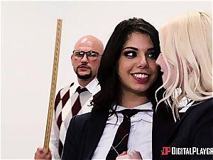 kinky schoolgirl is worth to be disciplined for her misbehavior