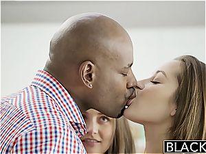 BLACKED gfs Dani Daniels and Allie Haze bi-racial 3some